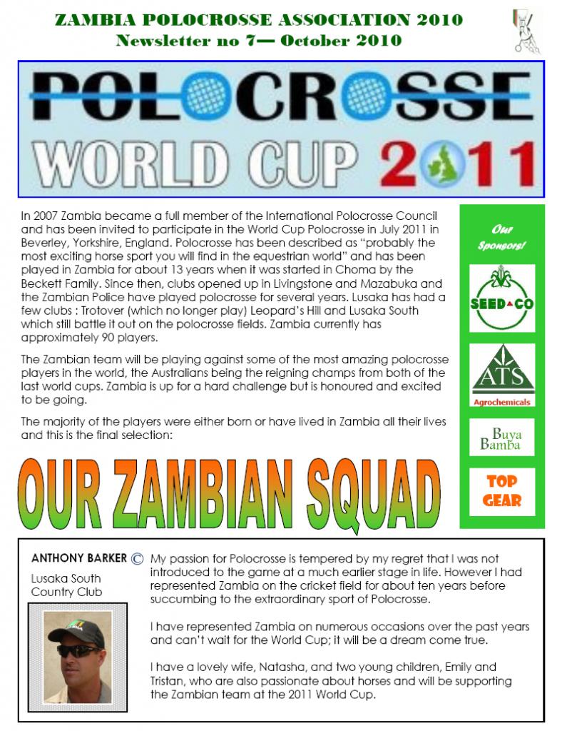 Zambian Polocrosse